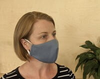 Large Re-usable 3-Layer Face Mask (pack of 1) Blue Grey