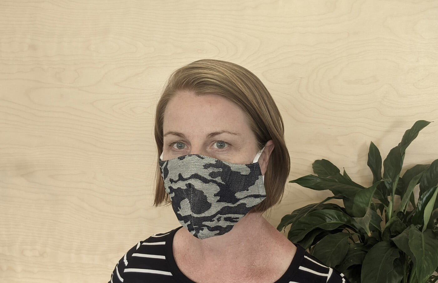 Large Re-usable 3-Layer Face Mask (pack of 1) Denim Cammo