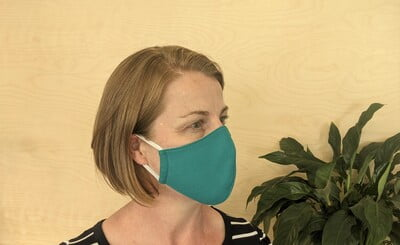 Large Re-usable 3-Layer Face Mask (pack of 1) Teal