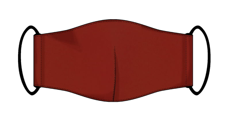 Large Re-usable 3-Layer Face Mask (pack of 2) Dark Red