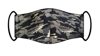 Large Re-usable 3-Layer Face Mask (pack of 2) Grey Cammo